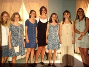 I am second from the left, as if it isn't obvious by the poof.
